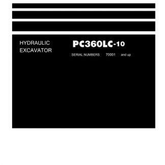 Komatsu PC360LC-10 Hydraulic Excavator Service Shop Manual