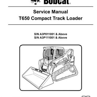 Bobcat T650 Compact Track Loader Service Manual
