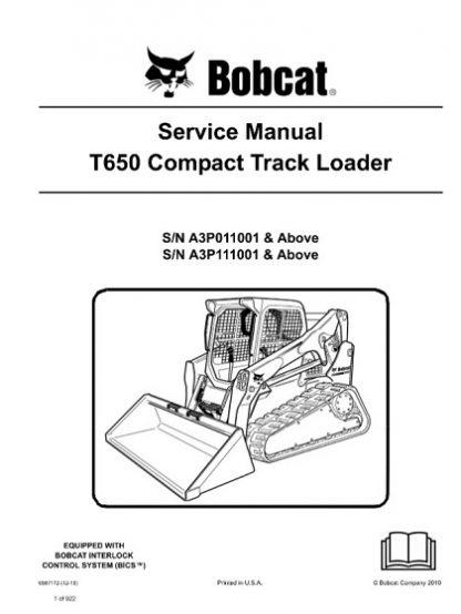 Bobcat T650 Compact Track Loader Service Manual