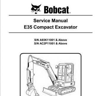 Bobcat E35 Compact Excavator Service Repair Manual
