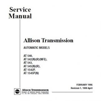Allison Transmission AT 545 Service Manual