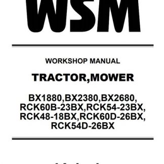 Kubota Tractor BX1880,BX2380, BX2680 Workshop Manual