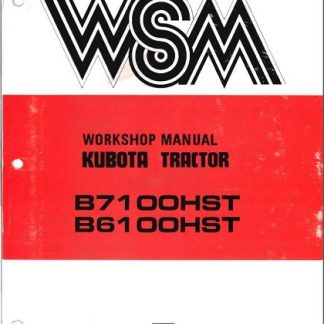 Kubota Tractor B6100 B7100 Workshop Manual