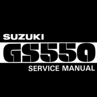 1977-1982 Suzuki GS550 Motorcycle Service Manual