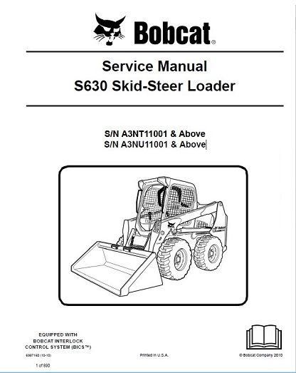 Bobcat S630 Skid-Steer Loader Service Repair Manual