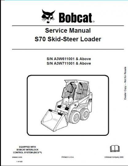 Bobcat S70 Skid-Steer Loader Service Repair Manual