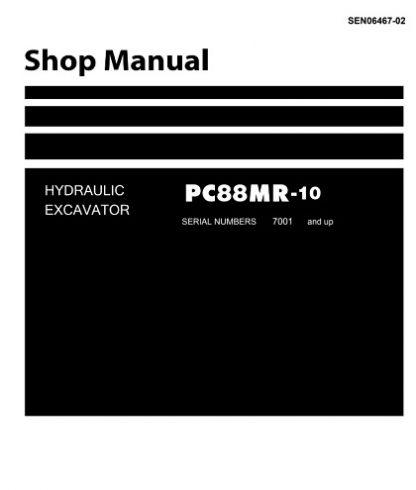Komatsu PC88MR-10 Hydraulic Excavator Service Manual