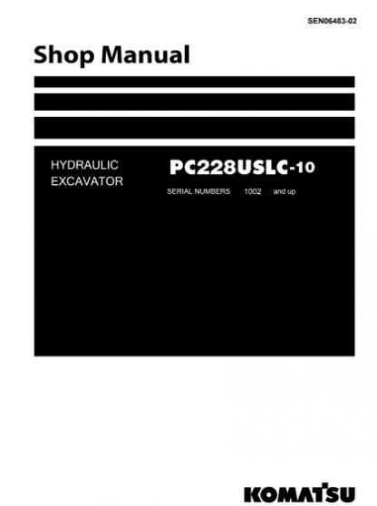 Komatsu PC228USLC-10 Hydraulic Excavator Service Shop Manual