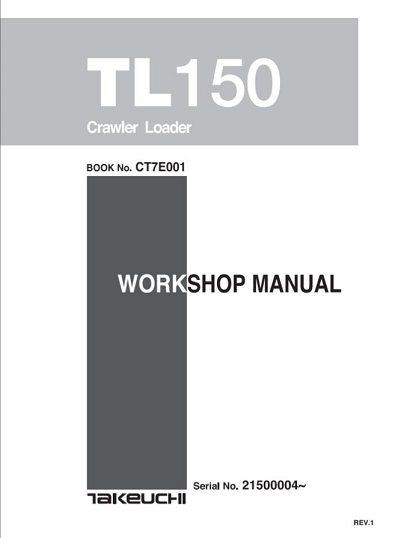 Takeuchi TL150 Crawler Loader Service Manual