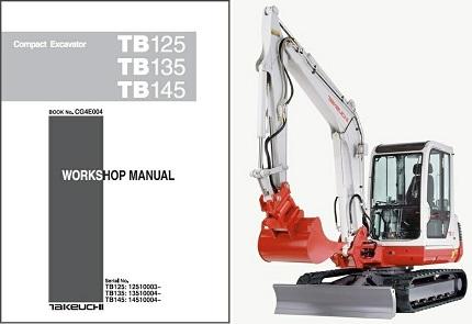Takeuchi Tb125,Tb135,Tb145 Compact Excavator Service Manual