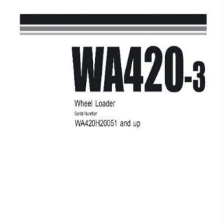 Komatsu WA420-3 Wheel Loader Service Repair Manual