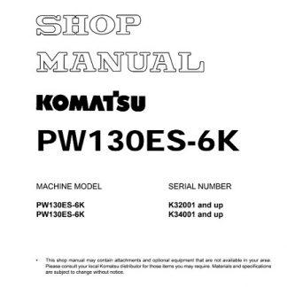 Komatsu PW130ES-6K Hydraulic Excavator Shop Manual